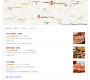 Google Local Pack Google My Business