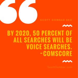 50 percent of all search will be voice search