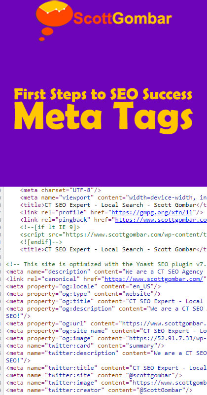 first steps to SEO success meta tags