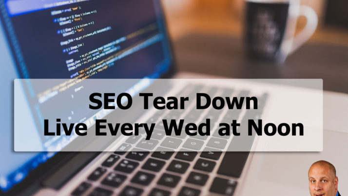 SEO Tear Down Episode 1